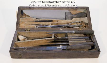 Charles Oleson surgical kit, ca. 1863