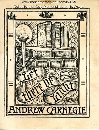 Andrew Carnegie bookplate