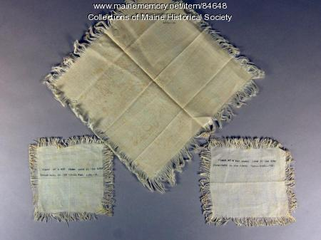 Civil War hospital linen scraps, ca. 1861