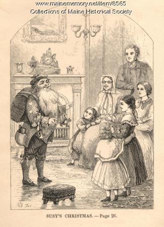 Susy's Christmas illustration, 1865