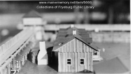 Clarence E. Mulford model of Fort Union, Fryeburg