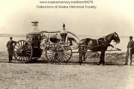 Casco No. 5 fire engine, Portland, 1866