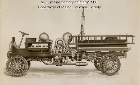 Fire engine, Portland, ca. 1920