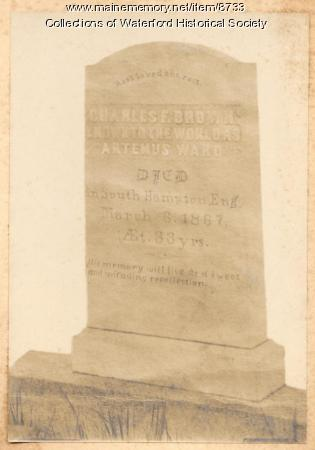 Gravestone of Charles F. Brown, Waterford