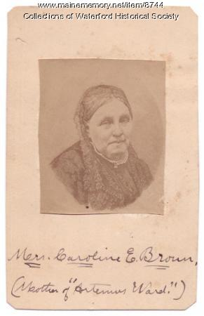 Caroline Farrar Brown, Waterford