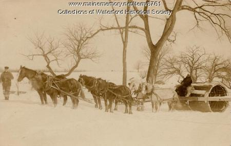 Snow roller, Waterford, ca. 1900