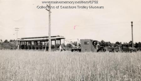 Car 30 leaving Biddeford, July 1939
