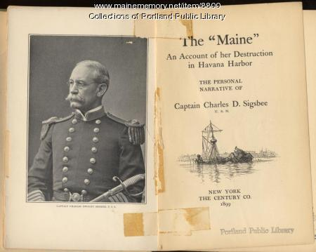 Sigsbee's narrative of battle of 'The Maine,' 1899
