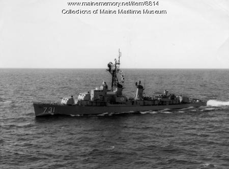 Destroyer U.S.S. MADDOX (DD-731) under way
