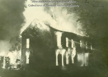 Fire, Sawyer Farm, Garland, 1949