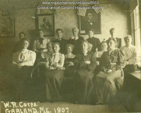 Women's Relief Corps of Garland, 1907