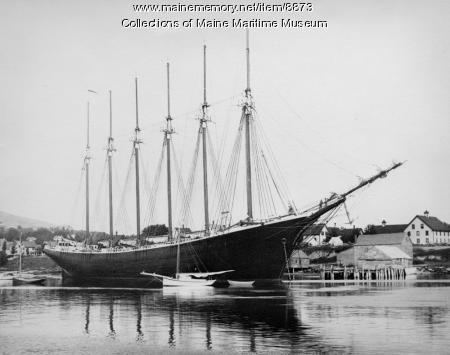Six-mast schooner GEORGE W. WELLS, Camden, 1900