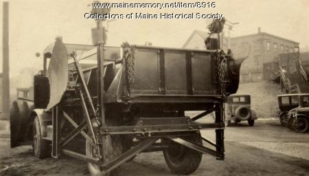 Truck and snow plow, Portland Company, ca. 1920
