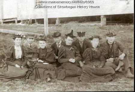 Maying party, Skowhegan, 1894