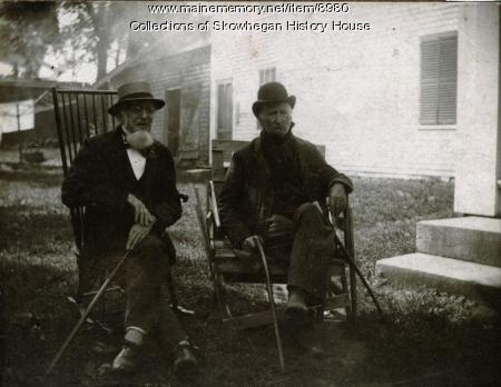 Two old pals, Skowhegan, ca. 1880