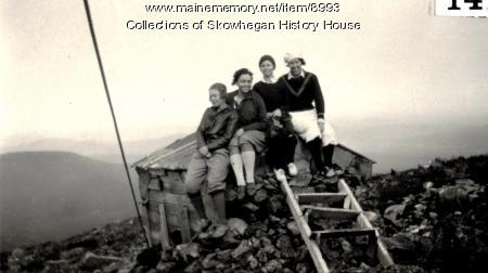 Group on top of Mount Abram, Greenwood, 1929