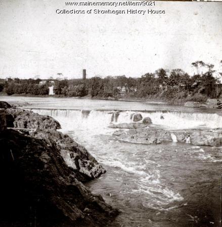 Skowhegan Falls from North Channel Bridge, ca. 1888