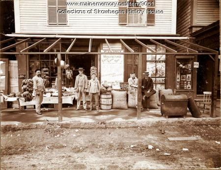 Morris Fruit and Confectionary Store, Skowhegan, ca. 1888