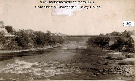 Maine Central Railroad Bridge, Skowhegan, ca. 1896