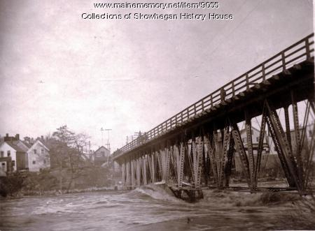 Maine Central Railroad Bridge, Skowhegan, 1916