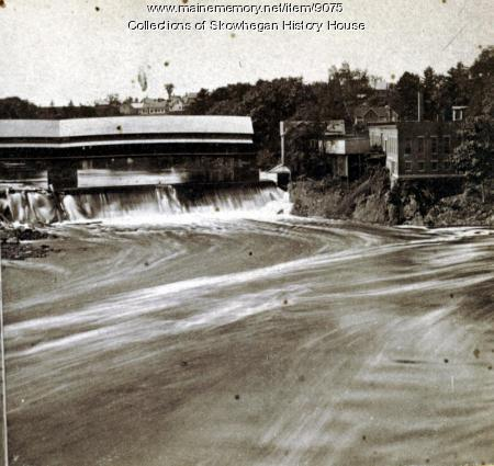 Kennebec River, above Railroad Bridge, Skowhegan, ca. 1870