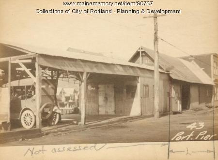 Storage for Ship Supplies and Coal, Portland Pier, Portland, 1924