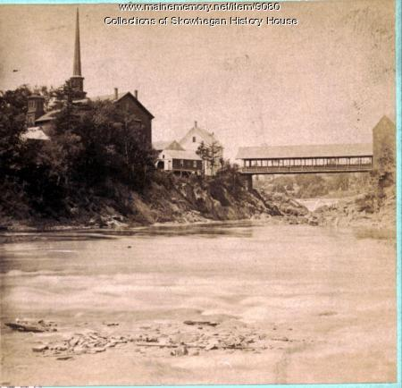 Looking up the Kennebec River, Skowhegan