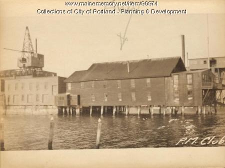 Boat House, Merrils Wharf, Portland, 1924