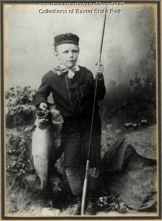 Percival Baxter and Spotted Trout, Cupsuptic Lake 1884