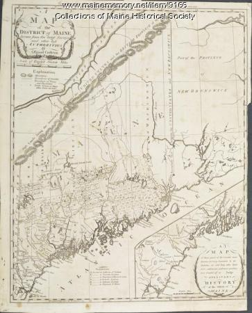 District of Maine map, 1795