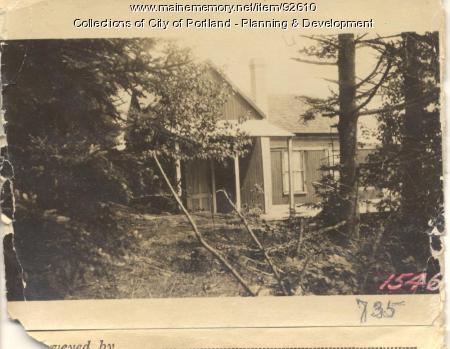 Fern Park Association property, E. End Wood Road, Peaks Island, Portland, 1924