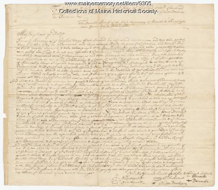 Indian loyalty oath, 1684