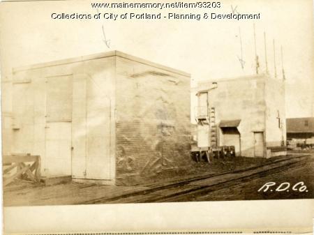 Mill, Browns Wharf, Portland, 1924
