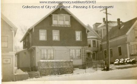 24 Turner Street, Portland, 1924
