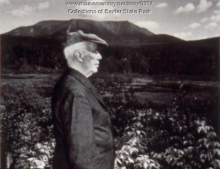 Percival Baxter and Katahdin, ca. 1962