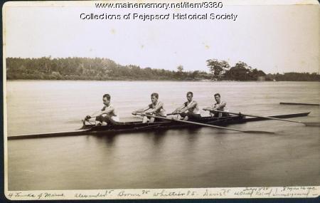 Bowdoin College varsity crew team, Brunswick, 1885