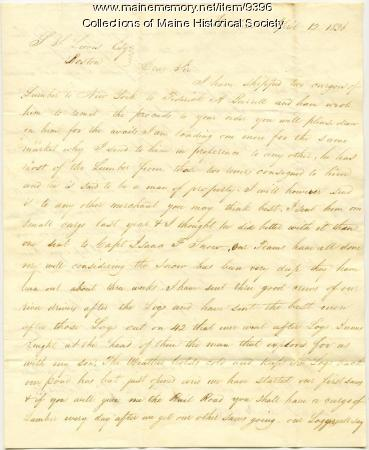 Letter from Benjamin Mathes Jr. to Samuel S. Lewis, Apr. 12, 1836
