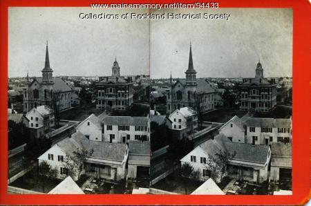 View west by south from top of custom house, Rockland, ca. 1875