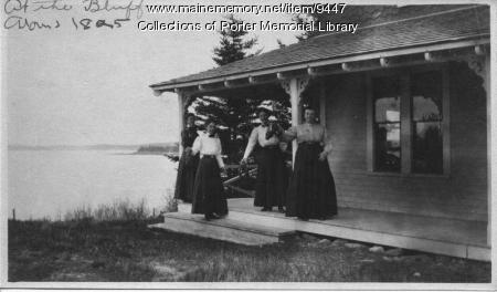 At the Bluffs, Rogue Bluffs, ca. 1895