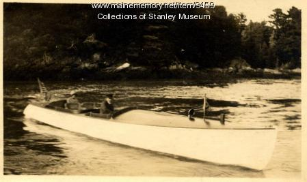 Navigating Ovens Mouth by Motorboat, ca. 1911