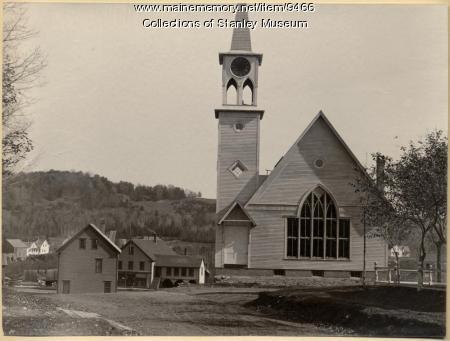 Universalist Church Construction, Kingfield, 1895