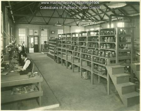 Portland Water District Douglass Street Meter Shop, Portland, 1933
