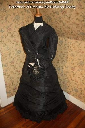 Mourning dress, Presque Isle, ca. 1860