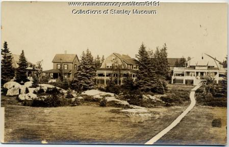 Cottages along the Row, Squirrel Island, ca. 1910