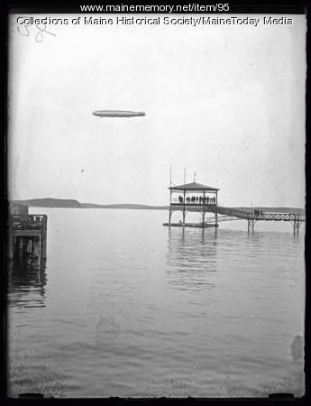 Navy Dirigible Shenandoah, Bar Harbor, 1925