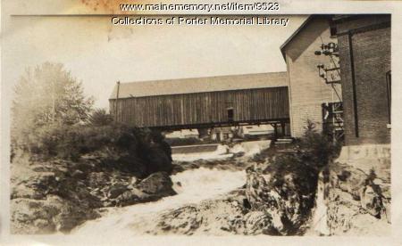 Covered bridge, Machias, 1932