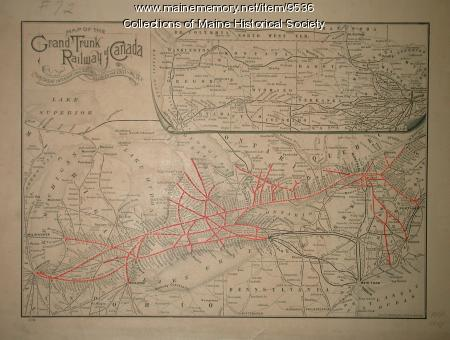 Map Of Maine And Canada. Map of the Grand Trunk Railway