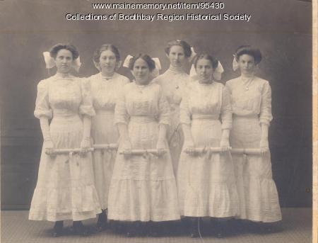 Boothbay Center School graduates, ca. 1895