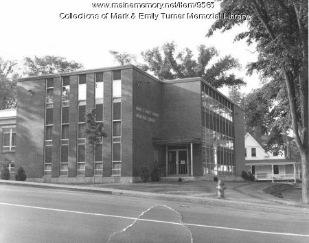 Mark and Emily Turner Memorial Library, Presque Isle, 1967