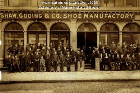 Shaw, Goding & Co. Shoe Manufactory, 1890s